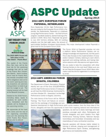 ASPC Update Newsletter Spring 2014