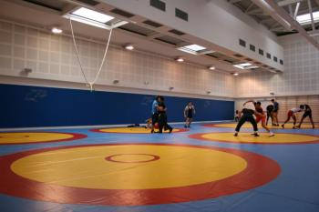 The new facility for wrestling at CAR