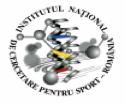 Logo Institutul National de Cercetare Pentru Sport (National Institute for Sport Research)